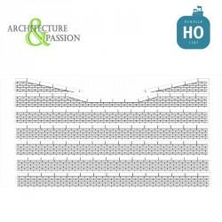 Bordures de quai voyageur moellons avec descentes HO Architecture & Passion 87ACC05 - Maketis