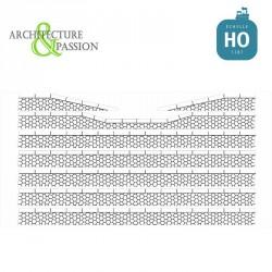 Bordures de quai voyageur pierres hexagonales avec descentes HO Architecture & Passion 87ACC10 - Maketis