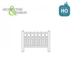 Barrières béton 90 type unifié HO Architecture & Passion 87ACC90 - Maketis