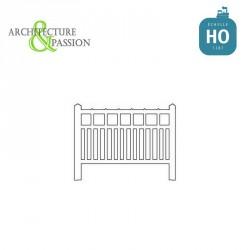 Barrières béton 91 type unifié HO Architecture & Passion 87ACC91 - Maketis