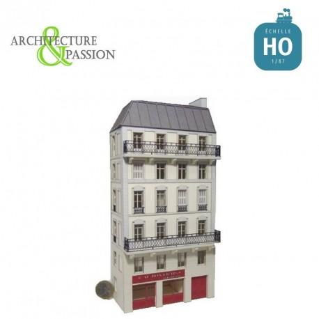 Immeuble d'angle Fond de décor 6 étages 110 HO Architecture & Passion 87FDD110 - Maketis