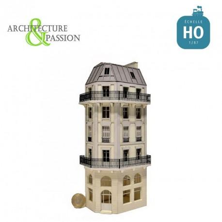 Immeuble d'angle Fond de décor 6 étages 113 HO Architecture & Passion 87FDD113 - Maketis
