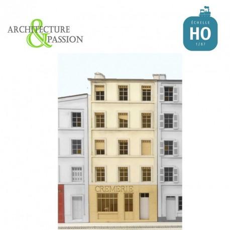 Immeuble pour Fond de décor Crèmerie HO Architecture & Passion 87FDD253 - Maketis