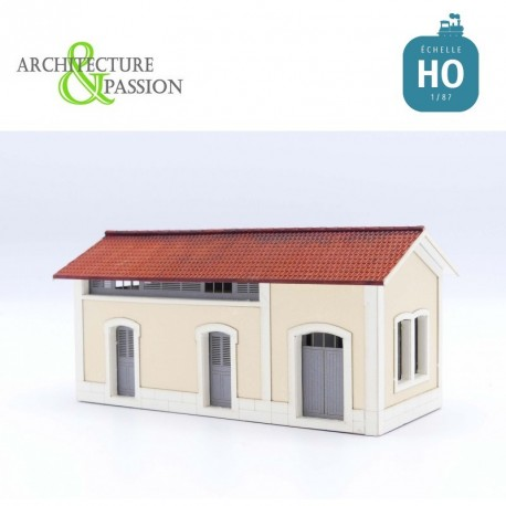 WC Lampisterie PLM Type Gare d'Ambert HO Architecture & Passion 875161 - Maketis