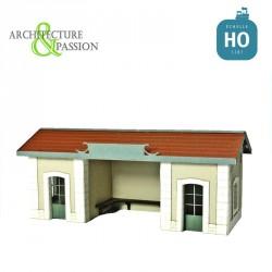 Abri de quai PLM type Gare de Saint Désert HO Architecture & Passion 875061