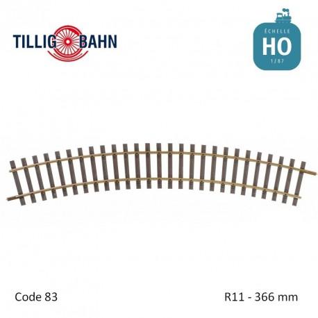 Rail courbe Elite R11 366mm code 83 HO Tillig 85140 - Maketis