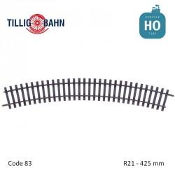 Rail courbe Elite R21 425mm code 83 HO Tillig 85141 - Maketis