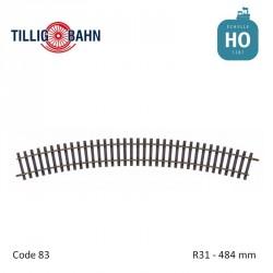 Rail courbe Elite R31 484mm code 83 HO Tillig 85143