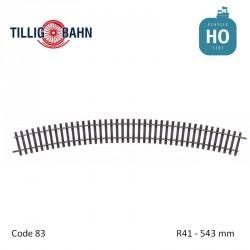Rail courbe Elite R41 543mm code 83 HO Tillig 85145