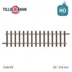 Rail droit Elite G2 114mm code 83 HO Tillig 85124