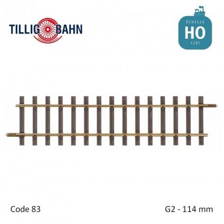 Rail droit Elite G2 114mm code 83 HO Tillig 85124 - Maketis
