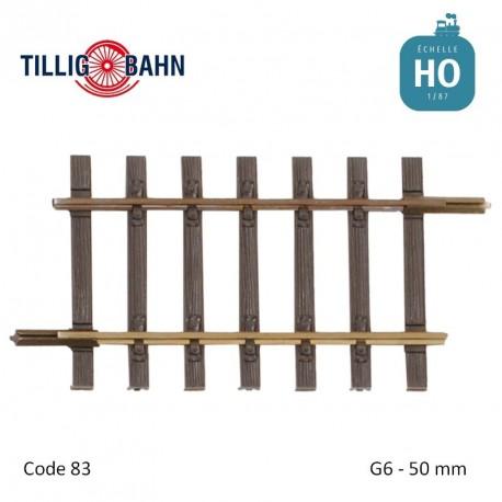 Rail droit Elite G6 50mm code 83 HO Tillig 85129 - Maketis
