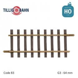 Rail droit Elite G3 64mm code 83 HO Tillig 85130 - Maketis