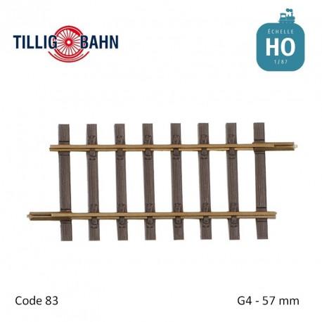 Rail droit Elite G4 57mm code 83 HO Tillig 85131 - Maketis