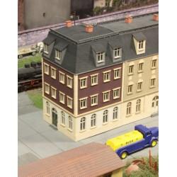 Immeuble de ville angle 90°, fin 19ème siècle