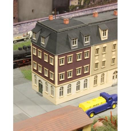 Immeuble de ville angle 90°, fin 19ème siècle - Joswood 21014 - MAKETIS