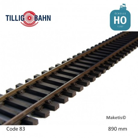 Rail flexible Elite 890mm traverses bois code 83 HO Tillig 85125 - Maketis
