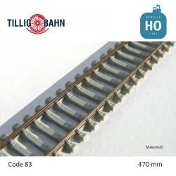 Rail flexible Elite 470mm traverses béton code 83 HO Tillig 85134 - Maketis