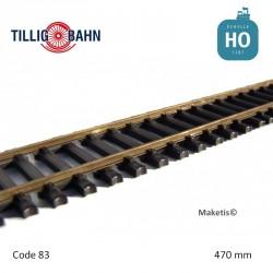Rail flexible Elite 470mm traverses acier code 83 HO Tillig 85136 - Maketis