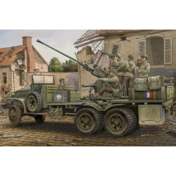 Voiture GMC canon anti-aérien Bofors 40mm 1/35 Hobby Boss 82459