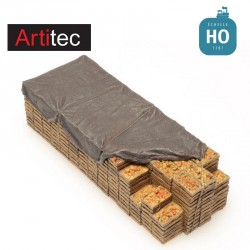 Chargement de cageots de fruits 60 x 22mm HO Artitec 487.801.82 - Maketis