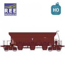 Wagon trémie à ballast F70 Uas SNCF Ep IV HO REE WB-674 - Maketis