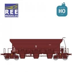 Wagon trémie à ballast F70 Uas SNCF Ep IV-V HO REE WB-677 - Maketis