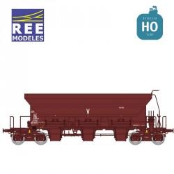 Wagon trémie à ballast F70 Uas SNCF Ep IV-V HO REE WB-676 - Maketis