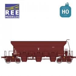Wagon trémie à ballast F70 Uas SNCF Ep IV HO REE WB-675 - Maketis