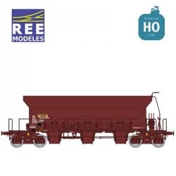 Wagon trémie à ballast F70 Uas SNCF Ep V HO REE WB-681 - Maketis