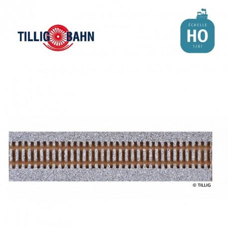 Semelle de voie ballastée HO STYROSTONE grise, longueur 950 mm pour voie flexible traverses bois
