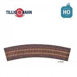 Semelle de voie ballastée HO STYROSTONE brune,pour voie courbée R41/30°