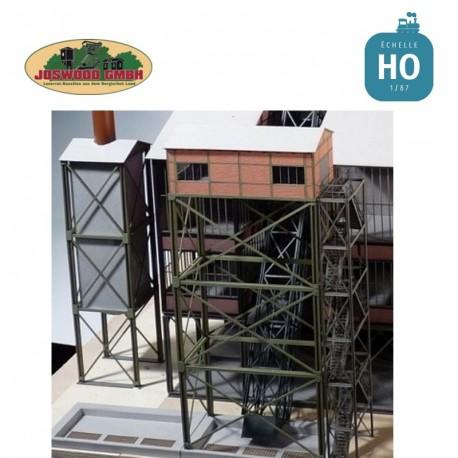 Maison de treuil type windenhaus, simple, avec tour d'escalier - Joswood 17043 - MAKETIS