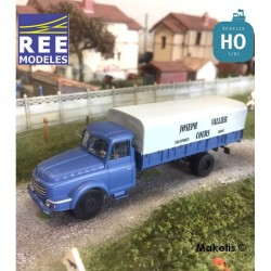 """Camion Willeme Bâché """"Joseph Vallier – Transport Cours"""" HO REE CB-102- Maketis"""