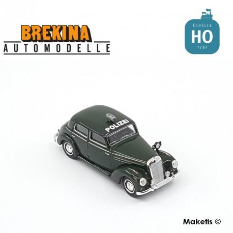 Mercedes Benz 220 Polizei vert foncé HO Brekina-Starmada 13055