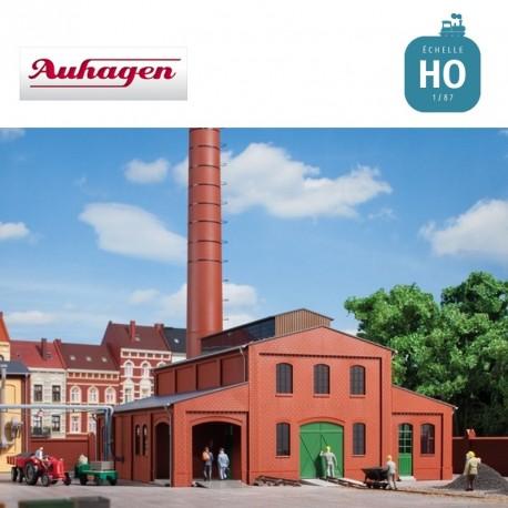Bâtiment pour chaudières à charbon avec cheminée HO Auhagen 11431 - Maketis