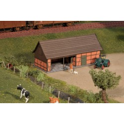 Cattle shelter, brown brick - Joswood 23003 - MAKETIS