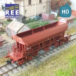 Wagon trémie à ballast F70 Uas SNCF Ep V HO REE WB-680 - Maketis