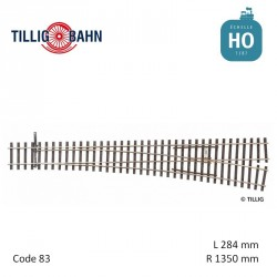 Aiguillage à droite Elite EW3 R1350mm 9° code 83 HO Tillig 85353 - Maketis