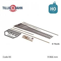 Kit flexi-points, frog angle 11° H0 Tillig 85441 - Maketis