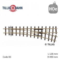 Aiguillage à droite Elite R409mm 18° code 83 HOe Tillig 85637 - Maketis