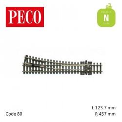 Aiguillage à droite Streamline Insulfrog R457mm 12° code 80 N Peco SL-395 - Maketis