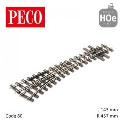 Aiguillage à gauche Streamline Electrofrog R457mm 14° code 80 HOe Peco SL-E496 - Maketis
