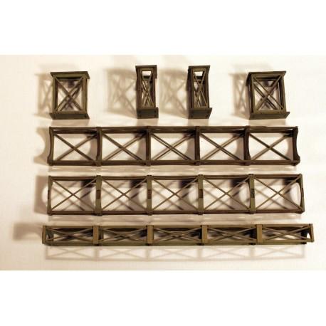 Rohrbrücke 80 mm (7 Stücke) Joswood JW40009 - MAKETIS