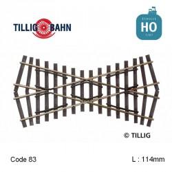 Croisement Elite 30° L 114 mm code 83 HO Tillig 85170