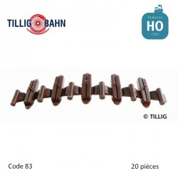 Eclisses isolantes brunes (20 pièces) code 83 HO Tillig 85502 - Maketis