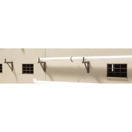 Support mural pour tuyaux 10 mm (10 pièces) Joswood JW40020 - MAKETIS