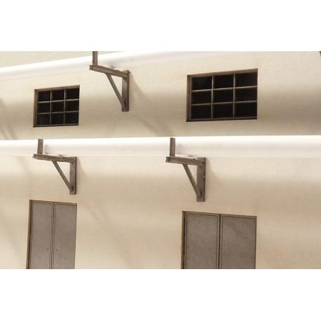 Support mural pour tuyaux 16 mm (10 pièces) Joswood JW40021 - MAKETIS