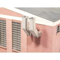 Ventilation shafts, rectangular, 2 pieces