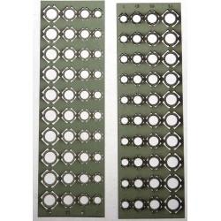 Divers diamètres de brides trouées, 4/4,8 /5,5 /6,4 mm (10 pièces de chaque)